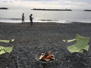 結局、子供たちと焚火した😊焚火ホットドッグは最高!